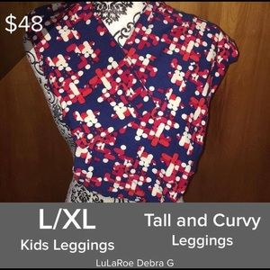 LuLaRoe Mommy & Me Leggings Set L/XL & TC